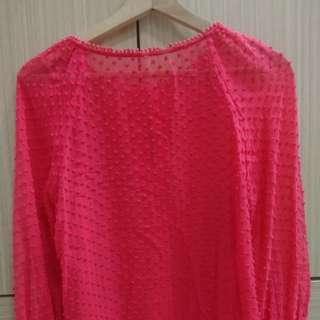 紅色雪紡上衣  二手 僅販售至2/22