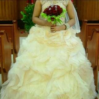 Wedding Vintage look gown