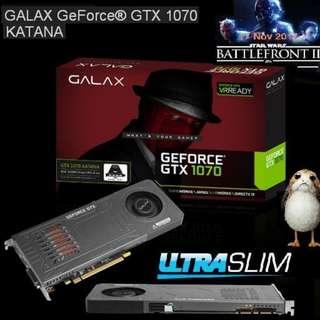GALAX GTX 1070 KATANA. Ultra-Slim GPU.