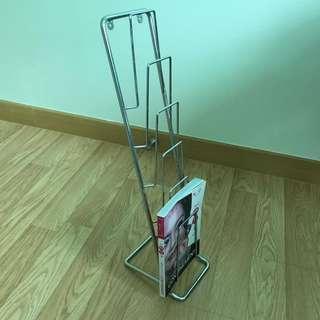 Small Stainless Steel Magazine Rack