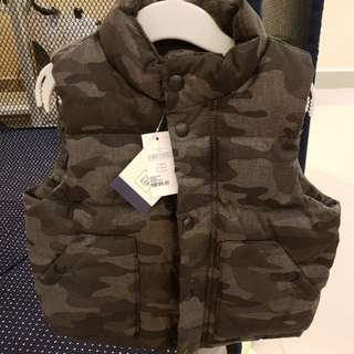 [GENUINE 50% OFF] Baby GAP Camou Warmest Vest