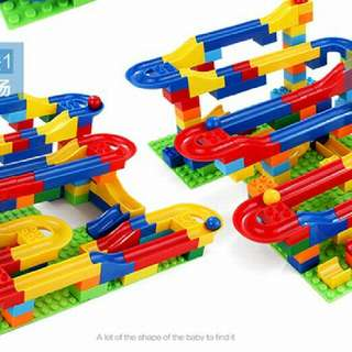Dulop Adaptable Building Blocks With Track 123 Pieces Education Toy