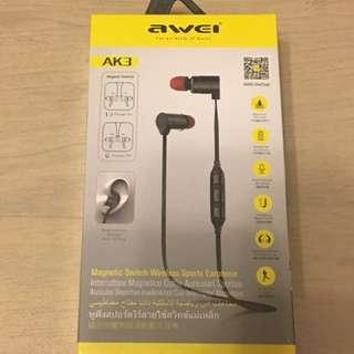Awei AK3 智能磁控藍芽耳機