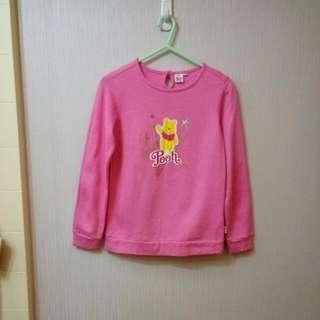 Winnie the Pooh 粉色抓毛衛衣