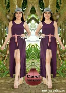 Carol Maxi dress with shorts