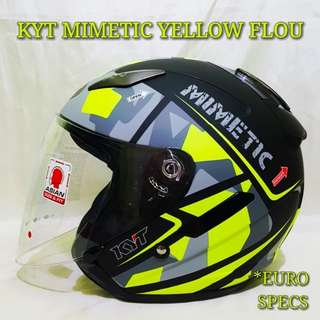 *PSB APPROVED KYT MIMETIC YELLOW CAMOUR FLOU