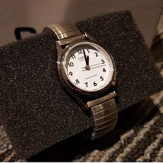 Casio women's white face wrist watch