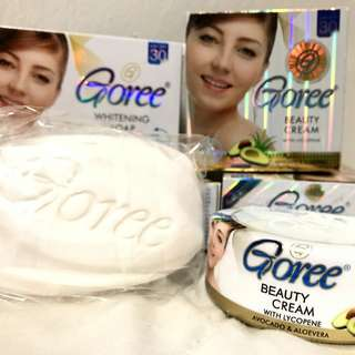 AUTHENTIC GOREE BEAUTY SET B (BEAUTY CREAM + WHITENING SOAP)