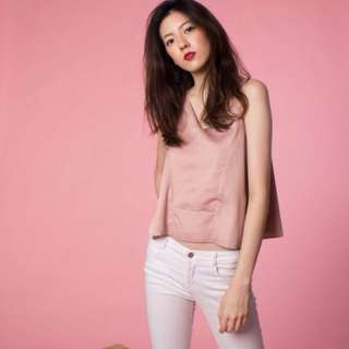 TFL Brielle Cut out top BNWT in pink