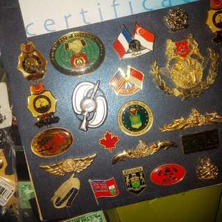 Military badges and pins
