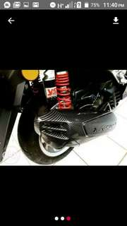 Nmax carbon exhaust pipe cover