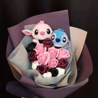 Soap Rose with Stitch Bouquet