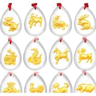 PROMOTION 万大福 916 gold foil 12 zodiac crystal 12 生肖水晶 批发价 [READY STOCK]