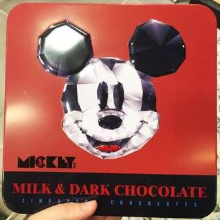 ✨迪士尼米奇老鼠朱古力禮盒 Mickey Mouse Milk and Dark Chocolate 350g