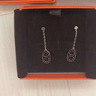 全新耳環 Hermes iliade earrings