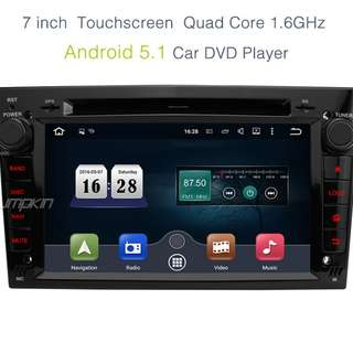 Pumpkin 7inch Android 5.1 Quad Core 1.6GHz Car GPS Stereo DVD Player for Opel Support DAB+/Steering wheel control/3G/Wifi/Bluetooth/Online-video Output