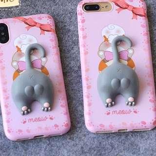 Cat kitty kitten butt meow iPhone case X/7/8+