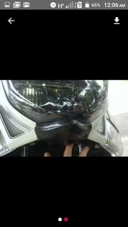 Nmax real carbon front center cover chin