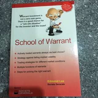 School of Warrant by Edmond Lee (Hottest Selling Warrant book in town!)