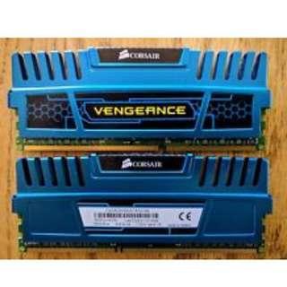 Corsair Vengeance 2 x 4GB DDR3 1600MHZ (Lifetime Warranty Receipt)