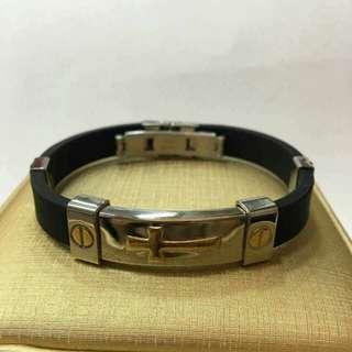 Keep the Faith rubber bracelet