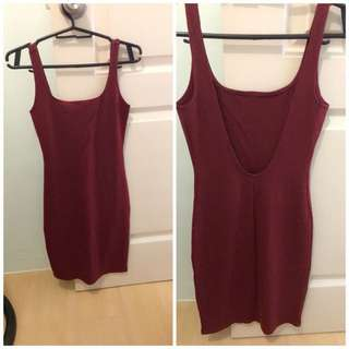 BN Forever21 bodycon scoopback dress