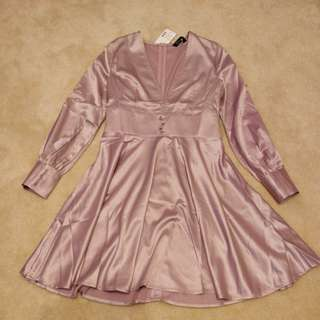 New with tags formal satin v-neck dress