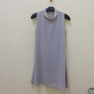 Dress mutiara abu2