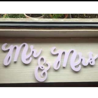 Wedding Signs of MR & MRS