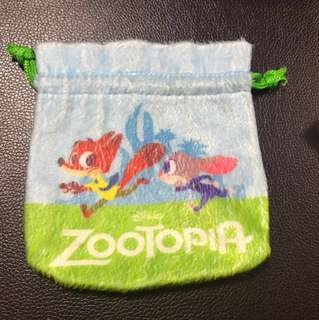 Zootopia Draw String Pouch - Small