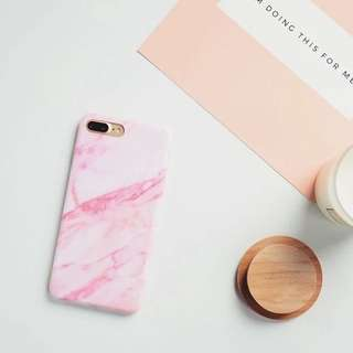 Pink Marble iphone 7/8plus case