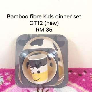 Bamboo feeding dinner set