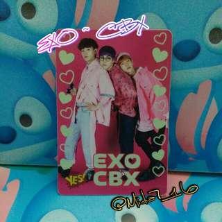 EXO CBX - YES卡 ( 夜光膠卡 )