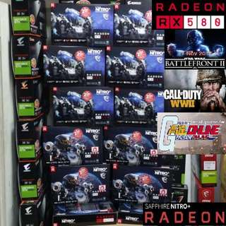 Sapphire Nitro+ RX 580 8G Special Edition Radeon™. ( Start Gaming Star War Battlefront II, Call of Duty WWII, Gundam Online Today)