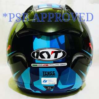 *PSB APPROVED KYT MIMETIC CAMOUR BLUE..!!