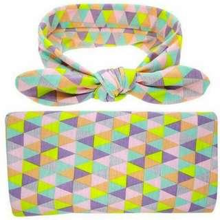 Set Swaddle & Headband
