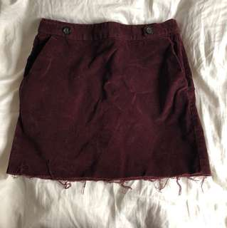 Banana Republic Corduroy Maroon Skirt