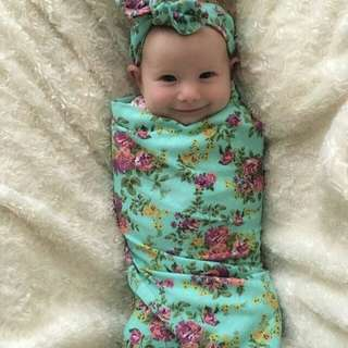 Set Swaddle & Headband