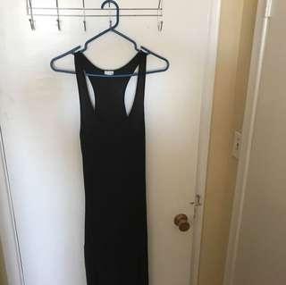 Black long dress with side slit