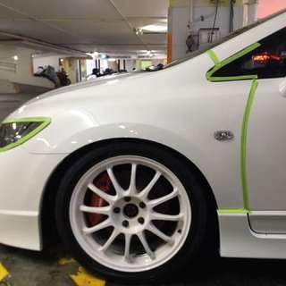 Honda Civic fd2r type R 9H ceramic coating and detailing