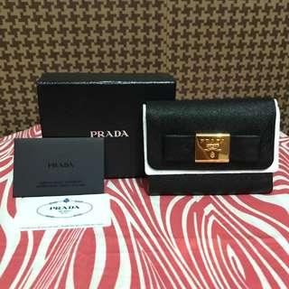 Authentic Prada Bifold Ribbon Wallet