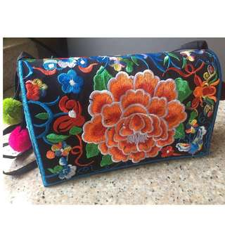 Brand New - Embroidered Sling bag (Bangkok)