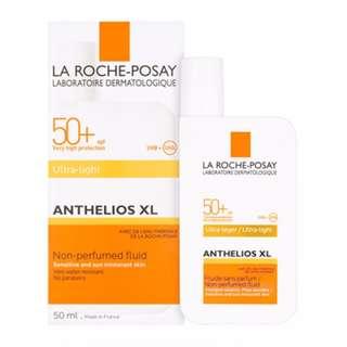 BN Authentic La Roche-Posay Anthelios XL Ultra Light Non-perfumed Fluid 50+ 50ML