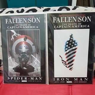 (2007) MARVEL COMICS FALLEN SON THE DEATH OF CAPTAIN AMERICA (SPIDER-MAN / IRON MAN)
