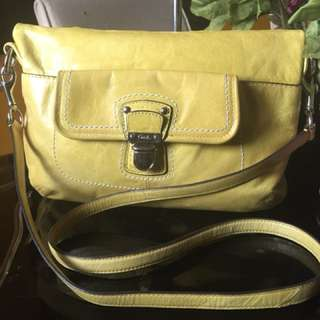 Authentic COACH Lime Green Leather 2Way Bag