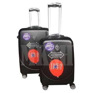 Expander Ultra Light 360 Degree 4 Rotating Wheels 2 in 1 Travel Luggage Set of 2 Suitcase