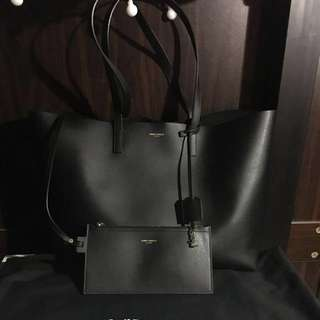 Saint Laurent ysl shopping tote bag(black)