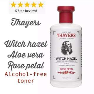 [PREORDER] Thayers Witch Hazel Rose Petal (355ml)