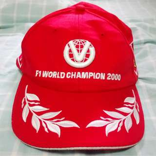 Michael Schumacher cap F1 world champion 2000 formula 1 一級方程式