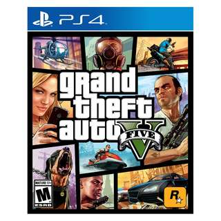 (Brand New Sealed) PS4 Game Grand Theft Auto V.